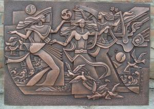 Quality Classical Style Wall Art Bronze Relief Casting Surface Finish Anti Corrosion for sale