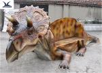 Dinosaur Shape Life Size Fiberglass Statues Anti - High Temperature / Waterproof
