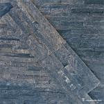 Chinamarble , Black Z Shape Quartzite Cultured Stone WSQ-020,6×24 (150×600mm)