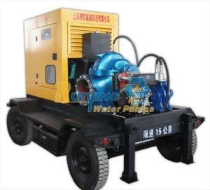 China CUMMINS engine portable diesel water pump , 100m3/h flow irrigation pumps for farms on sale