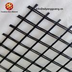 Knitted Fiberglass Geogrid Glass Fiber Grid For Asphalt Road