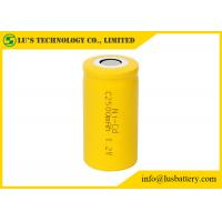 China 1.2 Nicd Rechargeable Battery / 2500mah Rechargeable Battery Yellow White Color on sale
