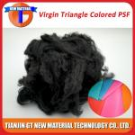 Black Recycled Polyester Staple Fiber, Dope Dyed Recycled PSF for Nonwoven / Spinning Yarn 1.5D-15D
