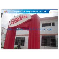 Waterproof Commercial Custom Inflatable Arch Red Gateway Square for Amusement Park / School