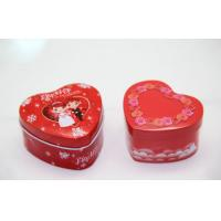 Romantic Heart Shaped Candy Tin Box , Gift Tin Cans For Wedding Favors
