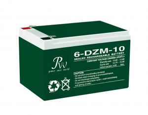China 10Ah 20Hr Electric Bike Battery 12 volts Rechargeable lead acid battery 6-DZM-10 on sale