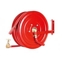 Swivelling Fire Extinguisher Hose Reels , Fire Fighting Equipment For Garden