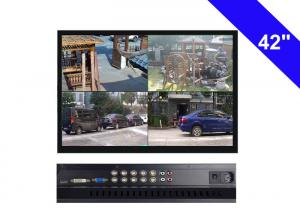 China Black CCTV LCD Monitor 42 Inch , 220W CCTV Security Monitor AC 100V- 240V on sale