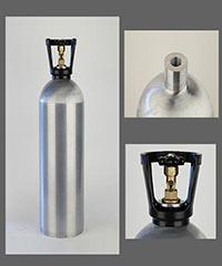 China 5.3lb draft beer CO2 tank Aluminium cylinder on sale