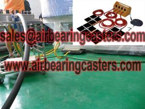 China Air bearing casters price list with details modular air casters on sale