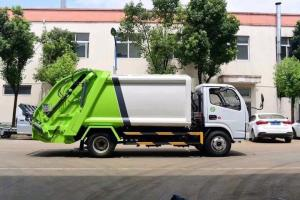 China 5cbm Dongfeng Chassis 4x2 Small Compactor Garbage Trucks for sale on sale