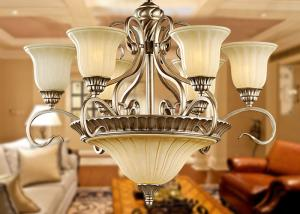 China Luxury European Modern Wrought Iron Chandelier 9 Light for Home Decoration 900W AC 110 - 240V on sale