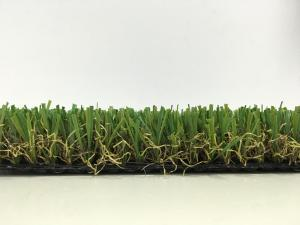 China High Temperature Resistance Outdoor Artificial Grass For Gardens , U Shape on sale