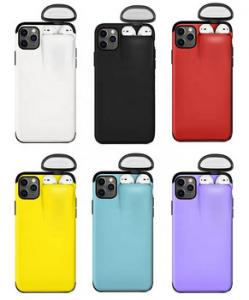 China 2 In 1 Silicone Plastic Phone Cover Coque For IPhone Airpods on sale