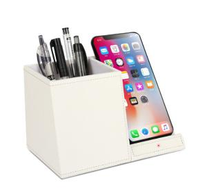China Multifunctional 9V 2A Wireless Charger Desk Organizer FOD detection on sale
