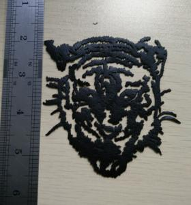 China Tiger Head in Black Heat Transfers Make Your Own Heat Transfers on sale
