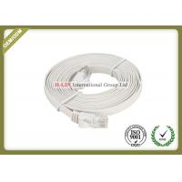 Cat5e Flat Network Patch Cord With RG45 Connector With White PVC / LSZH Jacket