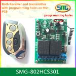 SMG-802HCS301 12V 2ch remote controller with programming pads