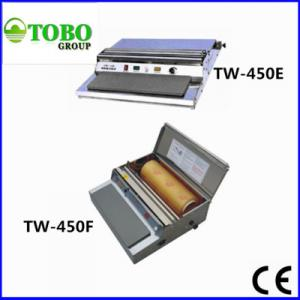 China Small business tray cling film packing machine TW-450 Series on sale