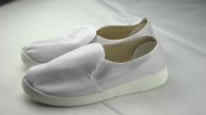 China PU Anti-static Stripe ESD Clean room Canvas Safety Shoes on sale