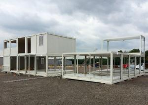 China Glass Wool Modular Container Homes Two Stories For Large Construction Site on sale
