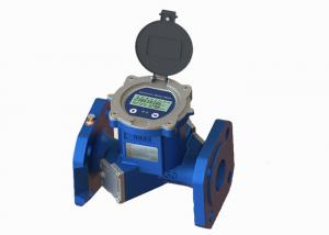 China Flange Port Cast Iron Ultrasonic Flow Meter , ISO 4064 Bidirectional Liquid Flow Meter on sale