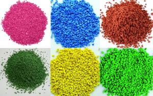 China EPDM Granule For Rubber Safety Flooring,1-2mm EPDM Color rubber granules use for artificial lawn, parks and sidewalk on sale