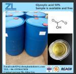 ácido glyoxylic 50% para o tratamento do cabelo, no. de CAS: 298-12-4