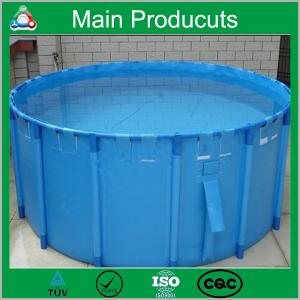 China New Design Products Portable Flexible Cube Structure Fish Farming Tanks for Sale supplier