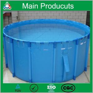 China Renewable Energy Projects PVC Portable PVC Plastic Fish Tank 0.5m3-50m3 on sale