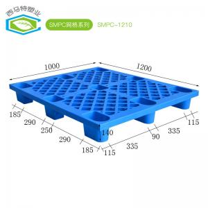 China Euro Standard HDPE Blue Nine Feet Plastic Pallet Used In Warehouse on sale