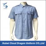 Camisa curto da luva dos azuis marinhos do Workwear da segurança com vincos militares