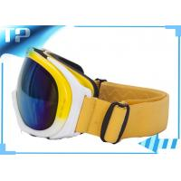 Fashional Yellow Snowboard Goggles /  Ladies Over The Glasses Ski Goggles