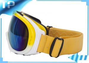 China Fashional Yellow Snowboard Goggles /  Ladies Over The Glasses Ski Goggles on sale