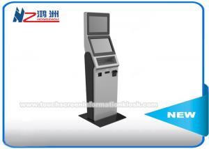 China Moeda de 17 polegadas que conta o quiosque ereto livre com teclado, contador da moeda e máquinas do classificador on sale