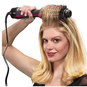 China hair straightener brush 2 Speed Settings and Plastic Material Hot Air Brush Curling Iron on sale