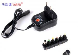 China 3 - 12V Adjustable Multi Voltage Power Adapter EU Plug PC ABS Material on sale