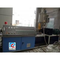 PP PE Pipe Extrusion Machine For Irrigate , Automatic Plastic Cool / Hot Water Pipe Production Line