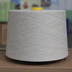 China 20Ne Cotton Linen Blend Yarn with Heat Dissipation , Natural Color Yarn Thread on sale