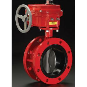 China Cast Steel Electric Butterfly Valve Flange Type EPDM Seat on sale