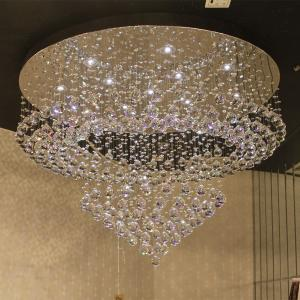 China Large Flush mount crystal ceiling chandelier Lighting Fixtures For Indoor home Decorative (WH-CA-19) on sale