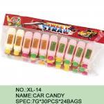 Forma saudável Eco do carro da novidade do pó do açúcar dos doces da cor diferente - amigável