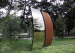 Garden Art Corten Steel Sculpture , Metal Sculpture Art 200cm Height