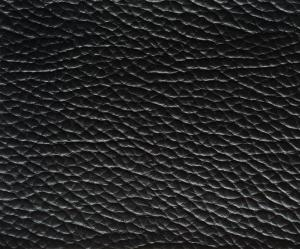 Non Woven Backing Black Faux Upholstery Imitation Leather Fabric