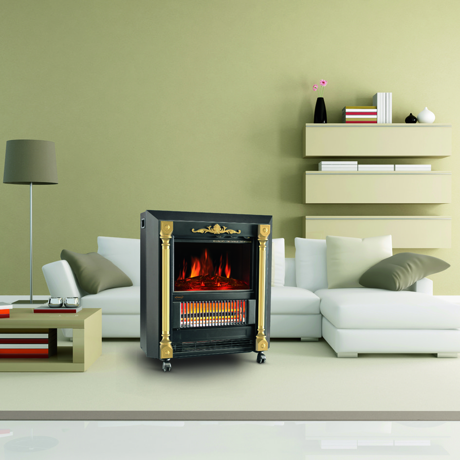 Ndy 20 Mobile Fireplaces Electric Heater Fire Quartz Tube Infrared