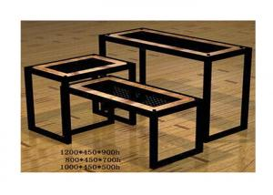 Quality Commercial Boutique Display Tables , Heavy Duty Tiered Retail Display Tables for sale