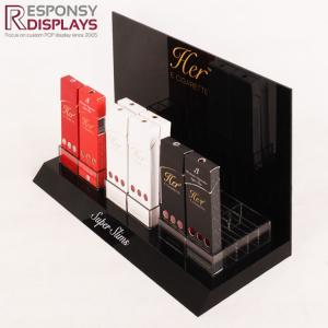 China New design customized counter electronic cigarette display with dividers on sale