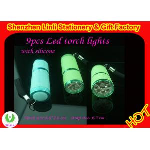 China High quality aluminium and silicone 9pcs best  led mini led torch light  on sale