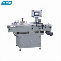 China Round Botton Adhesive Sticker Automatic Label Applicator Machine With Printer on sale