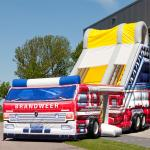 Large Inflatable Toy , Inflatable Bouncer Slide With Firetruck Theme